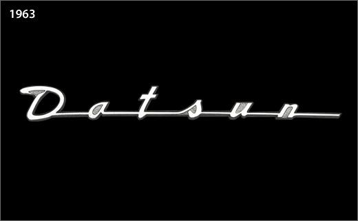 the evolution of the nissandatsun logo