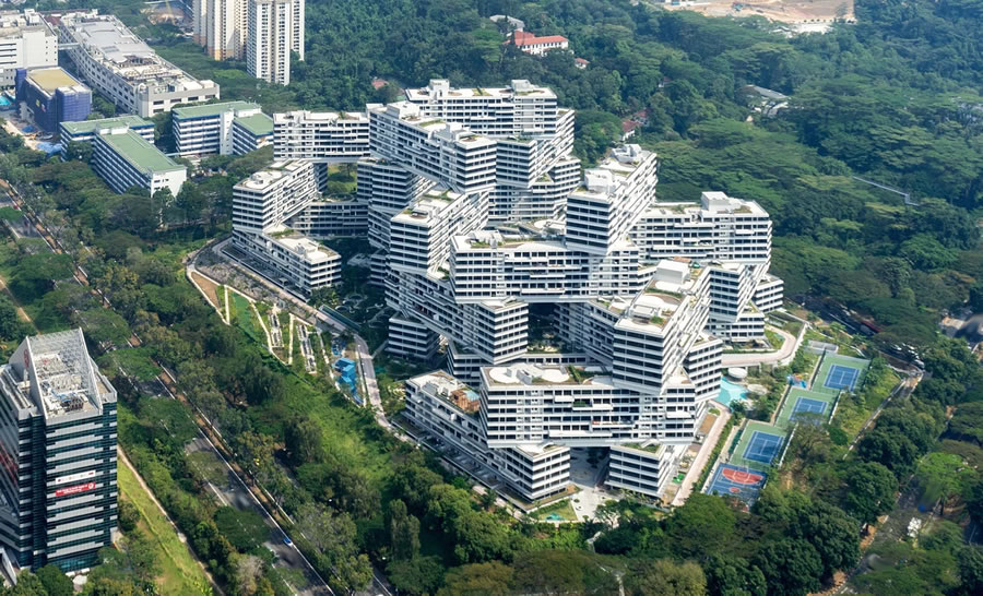 The interlace singapore apartments amazing branding in asia