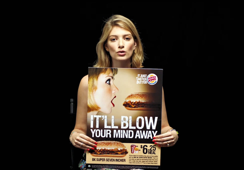 Sexualization of women in food ads