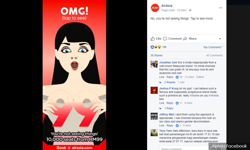 Sexist' Ad Pulled from Facebook by AirAsia Following Wave of