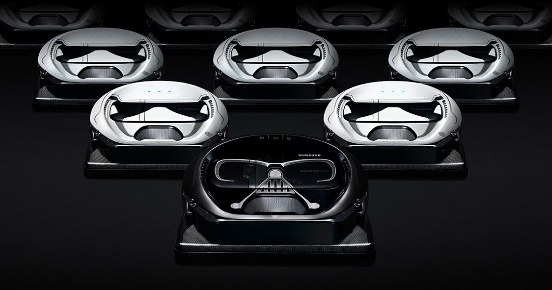 Samsung Turns To The Dark Side To Clean Your Empire With