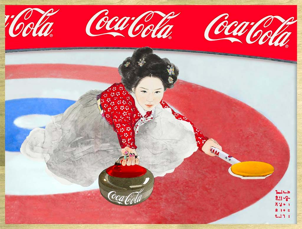 Coca-Cola Pays Tribute to Korean Olympians with Artwork from
